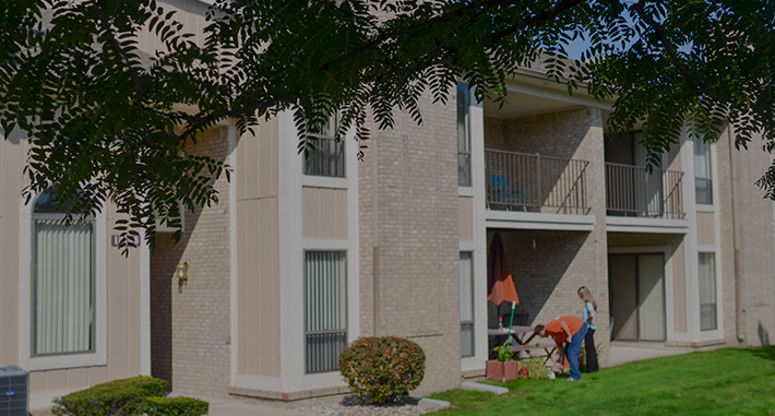 image of condos at community connections for independent living